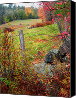 Fall Scenes Canvas Prints - Pastoral New Hampshire - Autumn in the Monadnock Region Canvas Print by Thomas Schoeller