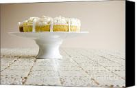 Cake-stand Canvas Prints - Pastry On Cake Stand Canvas Print by Igor Kislev