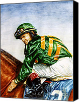 Pdjf Canvas Prints - Pat Day -  Silks of Lanes End Farm Canvas Print by Thomas Allen Pauly