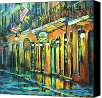 Scenes Painting Canvas Prints - Pat O Briens Canvas Print by Dianne Parks