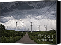 Storm Drawings Canvas Prints - Path of DOOM Canvas Print by Joe Gee