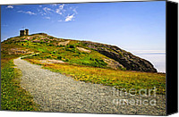 Long Canvas Prints - Path to Cabot Tower on Signal Hill Canvas Print by Elena Elisseeva