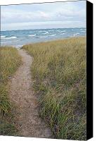 Overlook Canvas Prints - Path to the Beach Canvas Print by Twenty Two North Gallery