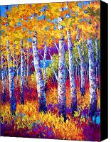 Birch Canvas Prints - Path to the Lake Canvas Print by Marion Rose