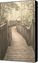 Wv Canvas Prints - Pathway Canvas Print by Melissa Petrey