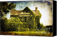 Old Abandoned House Canvas Prints - Patiently Waiting Canvas Print by Lois Bryan