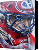 Hockey Goalie Canvas Prints - Patrick Roy ... Canvas Print by Juergen Weiss