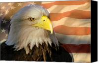 Marty Koch Canvas Prints - Patriotic Eagle Canvas Print by Marty Koch