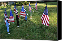 Celebrations Canvas Prints - Patriotic Lawn Ornaments Represent Canvas Print by Stephen St. John