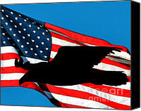 Bald Eagle Canvas Prints - Patriotic Predator Canvas Print by Al Powell Photography USA