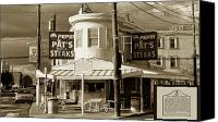South Philadelphia Canvas Prints - Pats King of Steaks - Philadelphia Canvas Print by Bill Cannon