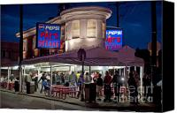 Tourist Canvas Prints - Pats Steaks Canvas Print by John Greim