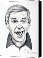 Paul Drawings Canvas Prints - Paul Lynde Canvas Print by Murphy Elliott