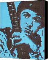 Paul Drawings Canvas Prints - Paul McCartney Canvas Print by Eric Dee