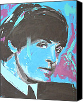 Paul Drawings Canvas Prints - Paul McCartney Single Canvas Print by Eric Dee