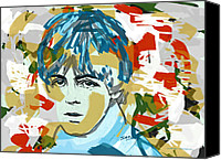 Paul Drawings Canvas Prints - Paul McCartney Canvas Print by Suzanne Gee