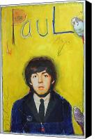 Beatles Pastels Canvas Prints - Paul Canvas Print by Mike  Mitch