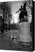 Statue Canvas Prints - Paul Revere Canvas Print by Andrew Kubica