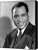 Publicity Shot Canvas Prints - Paul Robeson, Ca. 1930s Canvas Print by Everett