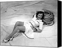 Publicity Shot Canvas Prints - Paulette Goddard, Reclining Canvas Print by Everett