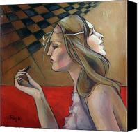 Chess Canvas Prints - Pawn Canvas Print by Jacque Hudson-Roate