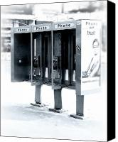 Phone Canvas Prints - Pay Phones - Still in NYC Canvas Print by Angie McKenzie
