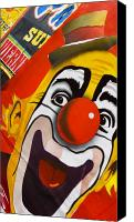 Clown Canvas Prints - Payaso Canvas Print by Skip Hunt