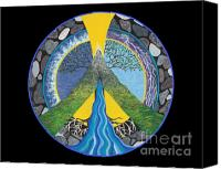 Portal Canvas Prints - Peace Portal Canvas Print by Tree Whisper Art - DLynneS