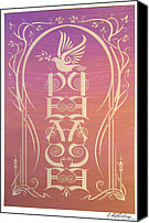 Dove Canvas Prints - Peace Reflectograph Canvas Print by Cristina McAllister
