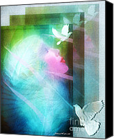 Rosy Hall Digital Art Canvas Prints - Peace Canvas Print by Rosy Hall