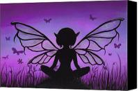 Purple Canvas Prints - Peaceful Meadows Canvas Print by Elaina  Wagner