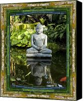 Florida Nature Photography Canvas Prints - Peaceful Reflection Canvas Print by Bell And Todd