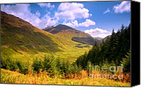 Joyful Canvas Prints - Peaceful Sunny Day in Mountains. Rest and Be Thankful. Scotland Canvas Print by Jenny Rainbow