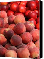 Fruit Markets Canvas Prints - Peaches and Nectarines Canvas Print by Carol Groenen