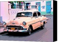 Havana Daydreams Canvas Prints - Peaches Canvas Print by Dominic Piperata