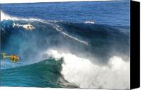 Surfers Canvas Prints - Peahi Maui Canvas Print by Dustin K Ryan