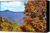 Susan Leggett Canvas Prints - Peaks and Colors Canvas Print by Susan Leggett