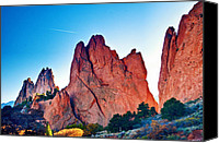 Garden Of The Gods Canvas Prints - Peaks of Glory Canvas Print by Aron Kearney