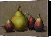Still Life Canvas Prints - Pear and Figs Canvas Print by Clinton Hobart