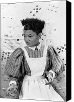 Hairstyle Canvas Prints - Pearl Bailey (1918-1990) Canvas Print by Granger