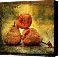 Fruits Canvas Prints - Pears Canvas Print by Bernard Jaubert