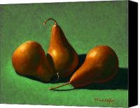 Food Tapestries Textiles Canvas Prints - Pears Canvas Print by Frank Wilson