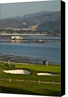 Northern California Photo Canvas Prints - Pebble Beach Golf Courses Canvas Print by Richard Nowitz