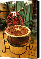 Chuck Wagon Canvas Prints - Pecan Pie Cooling Canvas Print by Robert Anschutz