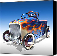 Ford Digital Art Canvas Prints - Peddle Car Canvas Print by Mike McGlothlen