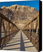 Craggy Canvas Prints - Pedestrian Bridge With a Rocky Background Canvas Print by Thom Gourley/Flatbread Images, LLC