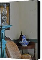 Oil Lamp Canvas Prints - Peeling Paint Canvas Print by Peter  McIntosh