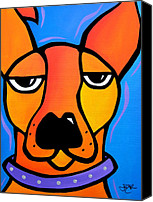 Fidostudio Canvas Prints - Peeved Canvas Print by Tom Fedro - Fidostudio