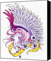 Greeting Card: $8.95.  Pegasus and white.  Includes.  Mike Royal.