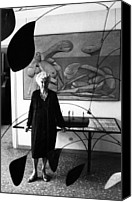 Peggy Guggenheim Canvas Prints - Peggy Guggenheim In The Center Hall Canvas Print by Everett
